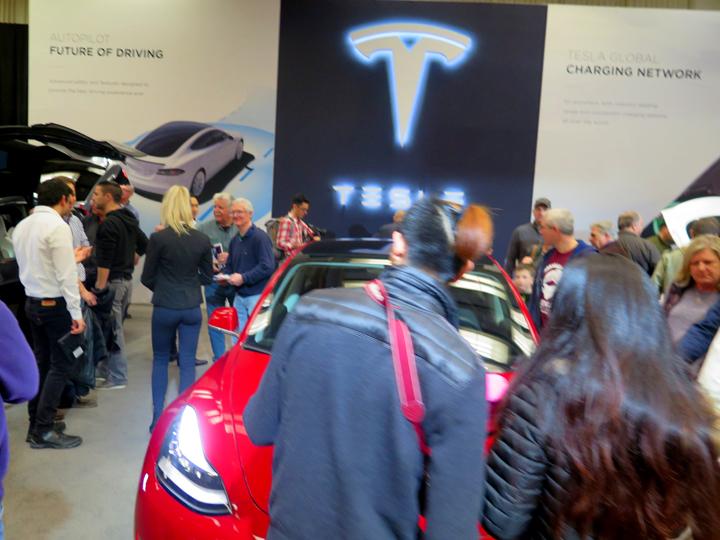 Tesla at auto show